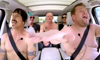 Red Hot Chili Peppers and James Corden Go Shirtless for Carpool Karaoke