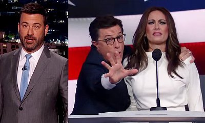 Jimmy Kimmel and Stephen Colbert Poke Fun at Melania Trump Speech Plagiarism Accusation