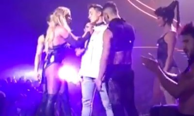 Britney Spears Doesn't Recognize Colton Haynes When Pulling Him Onstage at Las Vegas Show
