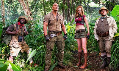 First Look at Kevin Hart, Karen Gillan and Jack Black in 'Jumanji' Set Pic Shared by The Rock