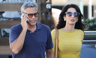 George and Amal Clooney Unabashedly Affectionate on Movie Set