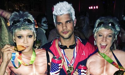 Who Wears It Best? Taylor Lautner and Nina Dobrev Sport Ryan Lochte Costumes for Halloween