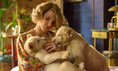 Jessica Chastain Cuddles With Lion Cubs in 'The Zookeeper's Wife' First-Look Pics