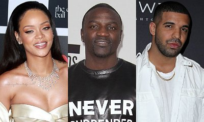 Rihanna Mingles With Akon as She and Drake Avoid Each Other in Abu Dhabi