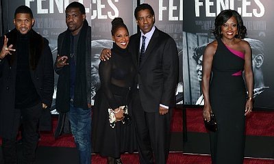 Usher Joins Denzel Washington and Viola Davis at 'Fences' NYC Premiere