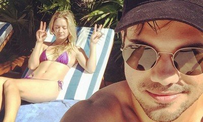 Taylor Lautner Holds Hands With Bikini-Clad Billie Lourd in Cabo