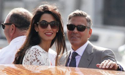 Amal Sports Rounder Tummy During Outing With George Clooney in Barcelona