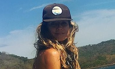 Racy Vacation! Heidi Klum Ditches Top While Fishing in the Caribbean