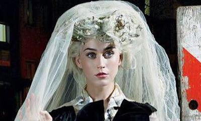 Katy Perry Dresses as a Bride for Vogue