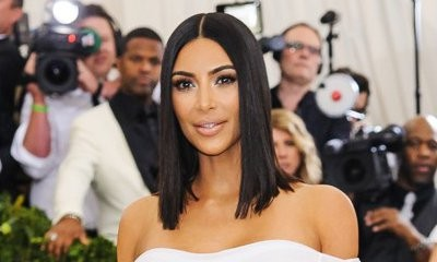 Kim Kardashian Plays It Safe in Completely Bling-Free Dress at the 2017 Met Gala