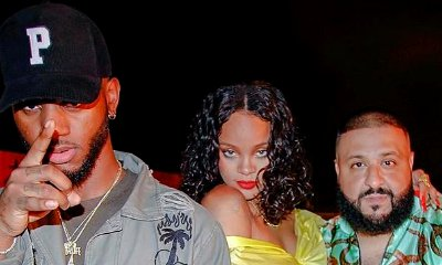 DJ Khaled, Rihanna and Bryson Tiller Film Music Video in Miami - See the On-Set Pics