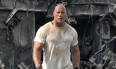 Dwayne Johnson Offers a Look at a Wrecked Vehicle in 'Rampage' Set Photo