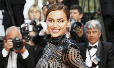 Irina Shayk Goes Braless in Leather Jacket for Vogue Spain