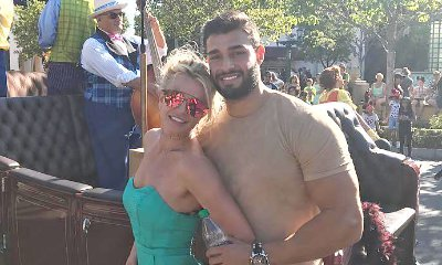 Britney Spears and BF Sam Asghari Loved Up at Disneyland While Celebrating Her Sons' Birthdays