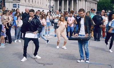 Liam Payne and Zedd Mingle With Londoners in
