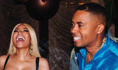 Nas Kisses Nicki Minaj at His Birthday Bash. Finally Confirming Romance?