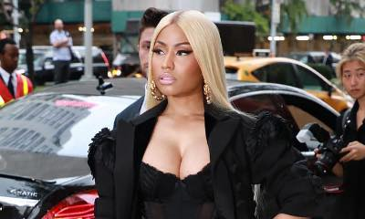 Nicki Minaj Suffers Nip Slip in Lacy Dress at Marc Jacobs NYFW Show