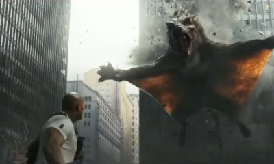 Watch Dwayne Johnson Fight a Monstrous Crocodile and a Flying Wolf in 'Rampage' New Trailer
