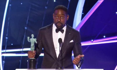 Sterling K. Brown Reveals He Keeps His Awards in the Garage at 2018 SAG Awards