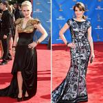 2010 Emmys: TV Beauties in Sweep Train Gowns Walk on Red Carpet