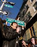 Joey Ramone's Commemorative Sign Moved Higher