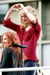 Pics: Taylor Swift Promoting 'Speak Now' on Moving Bus