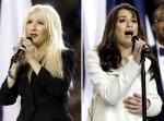 Christina Aguilera Booed for Forgetting Lyrics, Lea Michele Applauded at Super Bowl