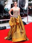 Emma Watson Dazzling in Gold Gown at 'Deathly Hallows 2' NY Premiere