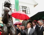 Arnold Schwarzenegger Unveils Statue of Himself During Museum Opening