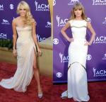ACM Awards 2012: Carrie Underwood Shows Some Leg, Taylor Swift Stuns in White