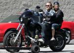'Sons of Anarchy' Photo: Ashley Tisdale Has Motorbike Ride With Charlie Hunnam