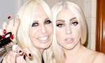 Lady GaGa Appears Topless in a Photograph With Donatella Versace