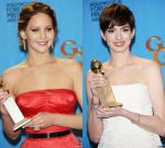 Golden Globes 2013: Jennifer Lawrence and Anne Hathaway Snatch Acting Awards