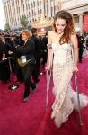Oscars 2013: Injured Kristen Stewart Wears Crutches on Red Carpet