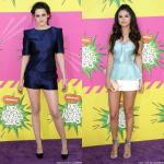 Kids' Choice Awards 2013: Kristen Stewart and Selena Gomez Cute in Tiny Shorts