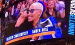 Amber Rose Left Blushing After Beau Val Chmerkovkiy Kisses Her at NY Knicks Game