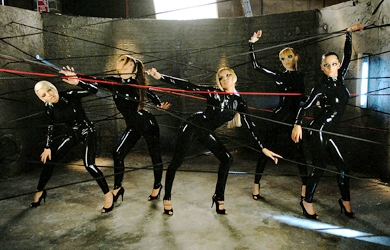 Girls Aloud in Skin Tight Suits for 'Sexy! No, No, No' Video