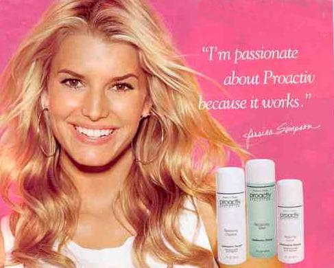 Jessica Simpson Gets Proactiv, Once More