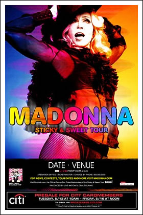 Madonna to Embark on 'Sticky and Sweet' Tour