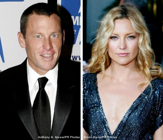Lance Armstrong and Kate Hudson Hugging and Kissing, the Video