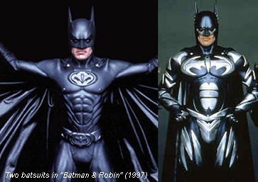 Two Batsuits in Batman and Robin (1997)