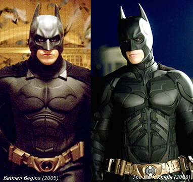 Batsuit in Batman Begins (2005) and The Dark Knight (2008)