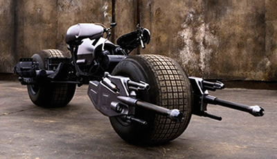 Batcycle in The Dark Knight