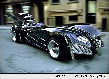 Batmobile in Batman and Robin (1997)