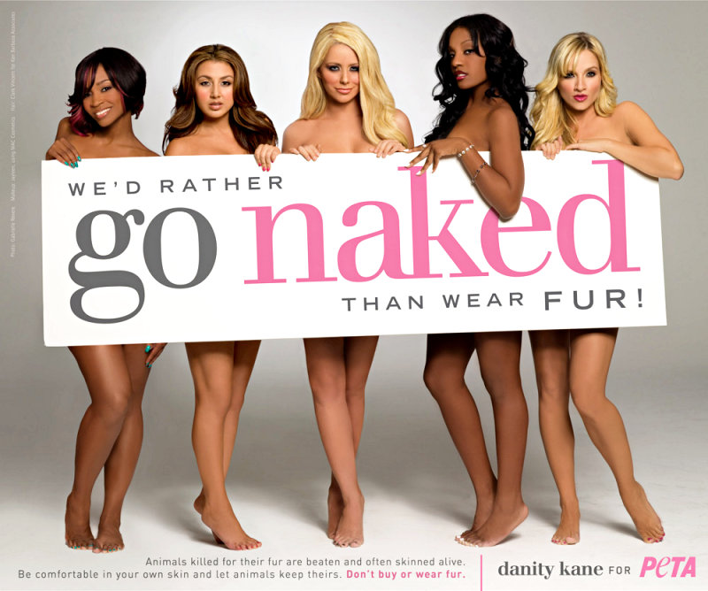 Girls of Danity Kane Go Naked for New PETA's Anti-Fur Ad