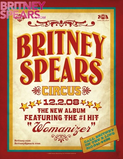 Promotional Poster of Britney Spears' 'Circus' Arrives