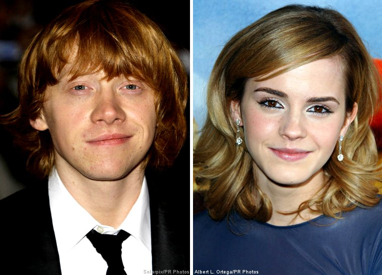 emma watson and rupert grint together. Emma Watson jumped Rupert
