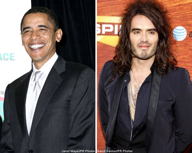 President Obama and Russell Brand Wanted in Springfield