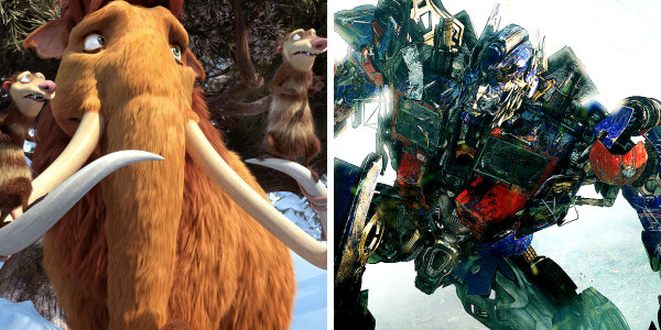 'Ice Age 3' and 'Transformers 2' in Tie for 1st Place at Box Office
