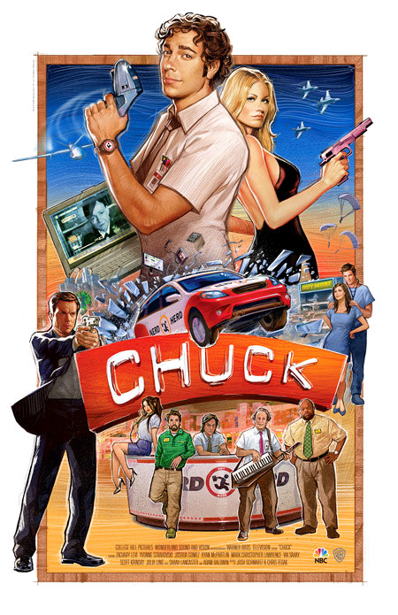 The Classic 'Chuck' Poster at San Diego Comic Con